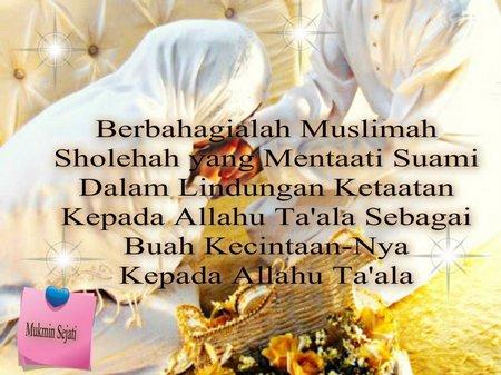 Istri muslimah taat suami