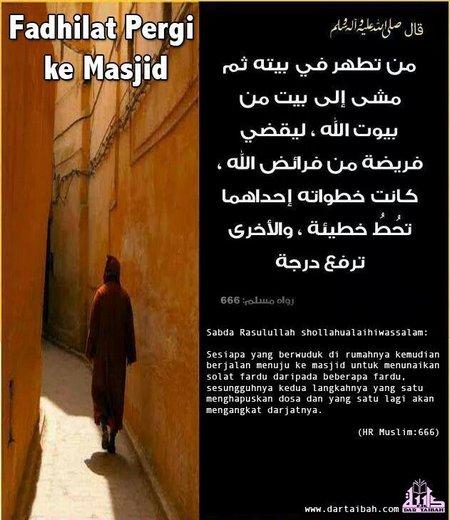 Mesjid fadilah pergi ke mesjid