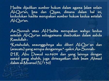 Qur'an al-hadist-assunnah