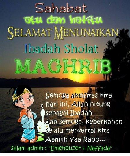 Selamat Magrib wayang
