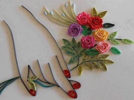 Bunga ditangan