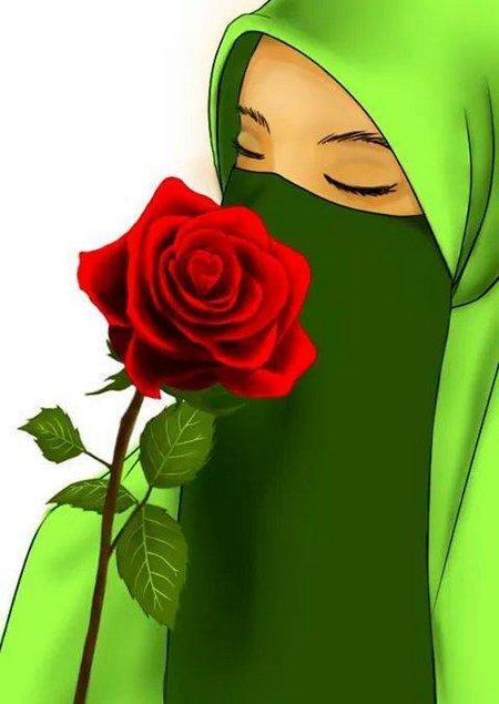 Cadar hijau kartun