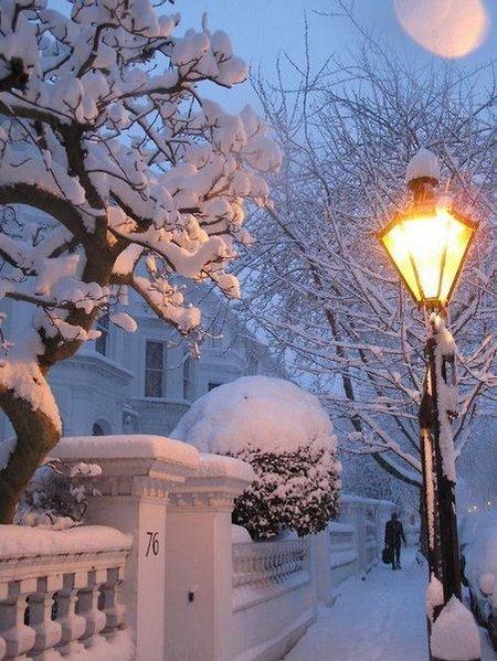 Lampu taman salju