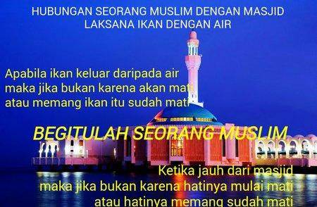 Mesjid dan muslim ikan air G+