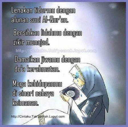 Selamat malam lenakan dengan al quran