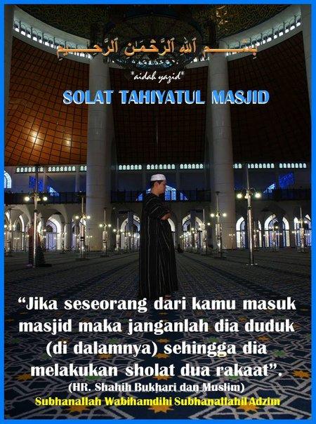 Sholat Tahayatul mesjid