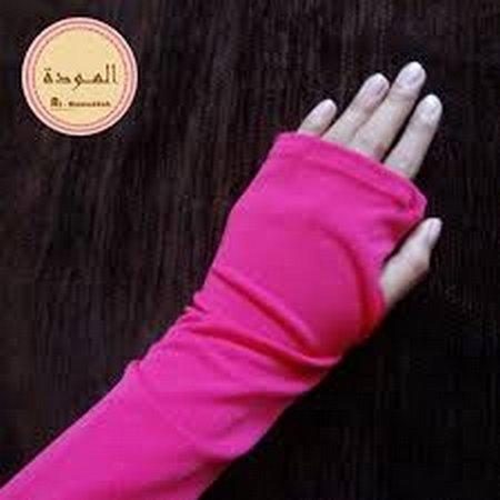 Tangan manset pink