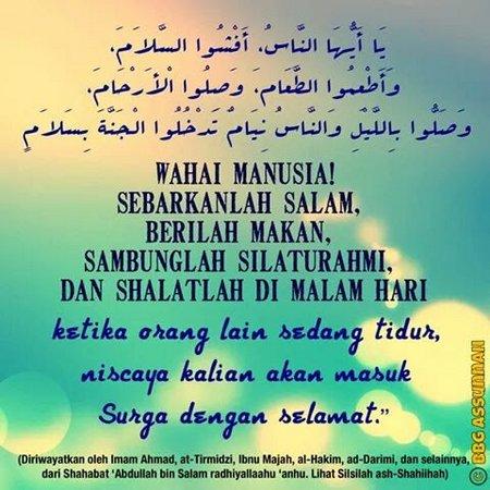 Wahai manusia sebarkan salam