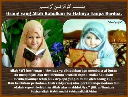 Baca quran orang allah kabulkan tanpa doa