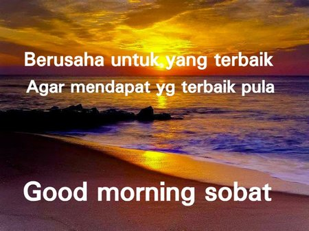 Good morning sahabat G+