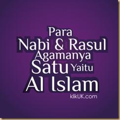 Islam agama nabi dan rasul