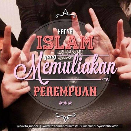 Islam meluliakan perempuan