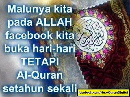Quran di buka setahun sekali