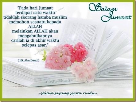 Salam jumaat doa ashar
