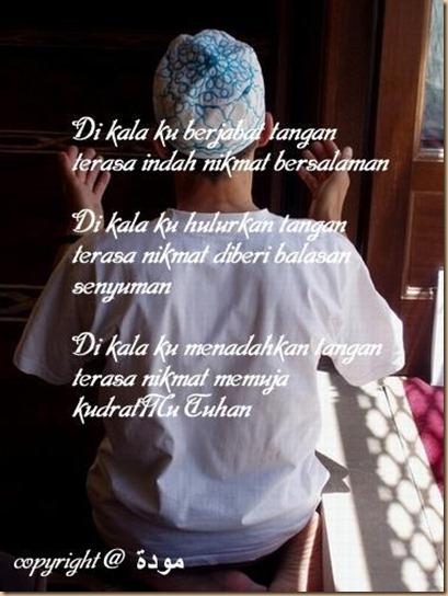 Berdoa nikmat tuhan