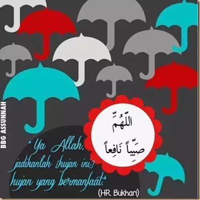 Hujan payung hadist
