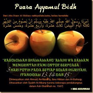Puasa ayyamul bind apel