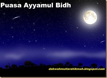 Puasa ayyamul bind bulan