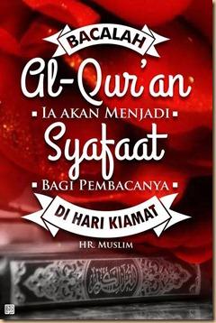 Qur'an akan memberi syafaat