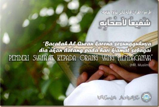 Quran bacalah itu membawa manfaat