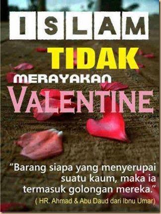 Valentin islam tidak rayakan