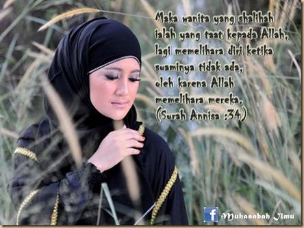 Wanita sholeha taat pada Allah & suami