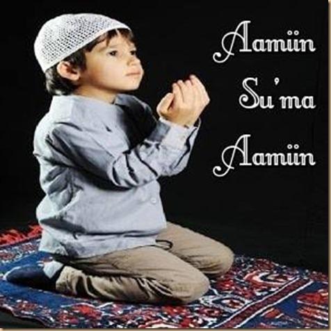 Anak berdoa . aamin