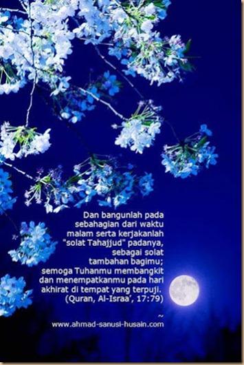 Tahajud bunga bulan biru