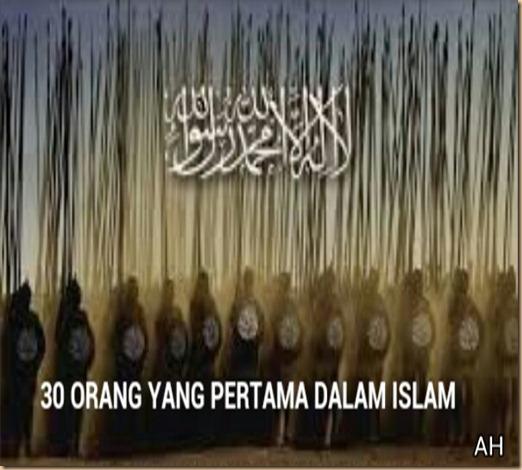 30 orang pertama dalam islam