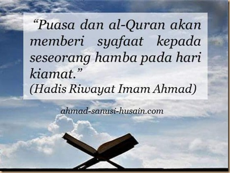 Puasa dan quran ahmad