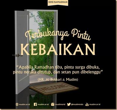 Ramadhan dibuka pintu kebaikan