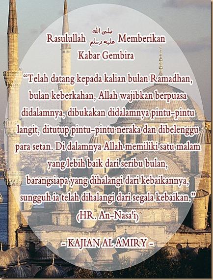 Ramadhan pintu syurga dibuka