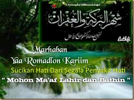 Ramadhan segala sakit hati G