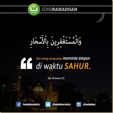 Sahur minta ampunan tadabur