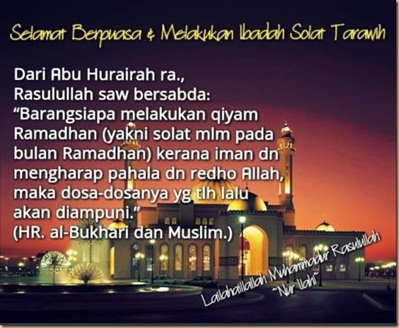 Sholat tarawih dan Puasa fb